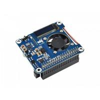 Power over Ethernet (PoE) HAT für Raspberry Pi 4B & 3B+ mit OLED Display