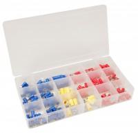 Kabelschuh-Sortiment, 3 Farben, 175-teilig in Sortimentsbox