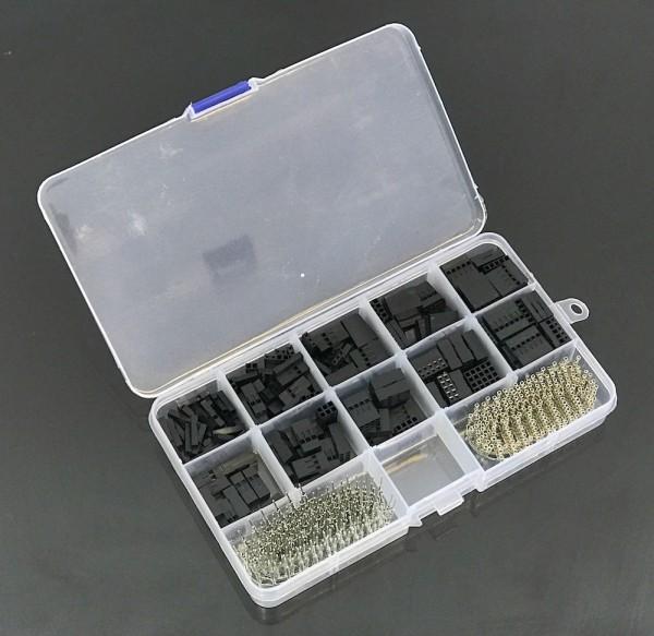 610-teiliges Dupont Crimp Steckverbinder-Set in Kunststoffbox