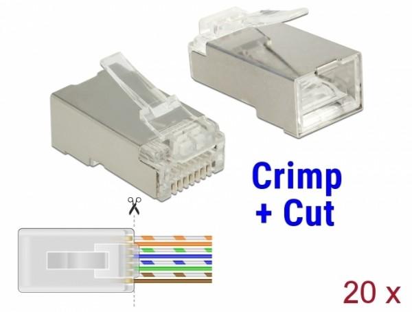 CAT 5e RJ45 Crimp+Cut Stecker STP, 20 Stück