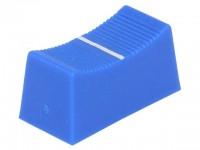 Faderknopf für 4mm Schiebepotentiometer, 23x11x11mm, blau