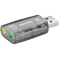 USB 2.0 Soundkarte mit Stereo Kopfhörer Ausgang und Mikrofon Eingang