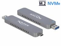 Externes Gehäuse für M.2 NVMe PCIe SSD mit USB Type-C und Typ-A Stecker