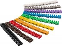 Kabelmarker-Clips / Kennzeichnungsringe, Ziffern 0-9, farbig, 10x 10 Stück