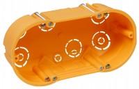 Hohlwanddose, doppelt, 143x48mm, inkl. Geräteschrauben, orange