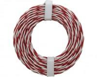 Kupferschaltdraht, isoliert, ø2x0,5mm, rot-weiß, 10m