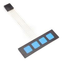 Membran Folientastatur 4 Tasten (ohne Beschriftung) mit Klebeschicht