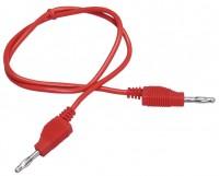 Messleitung, 1mm², PVC, 2x 4mm Bananenstecker, 50cm, rot